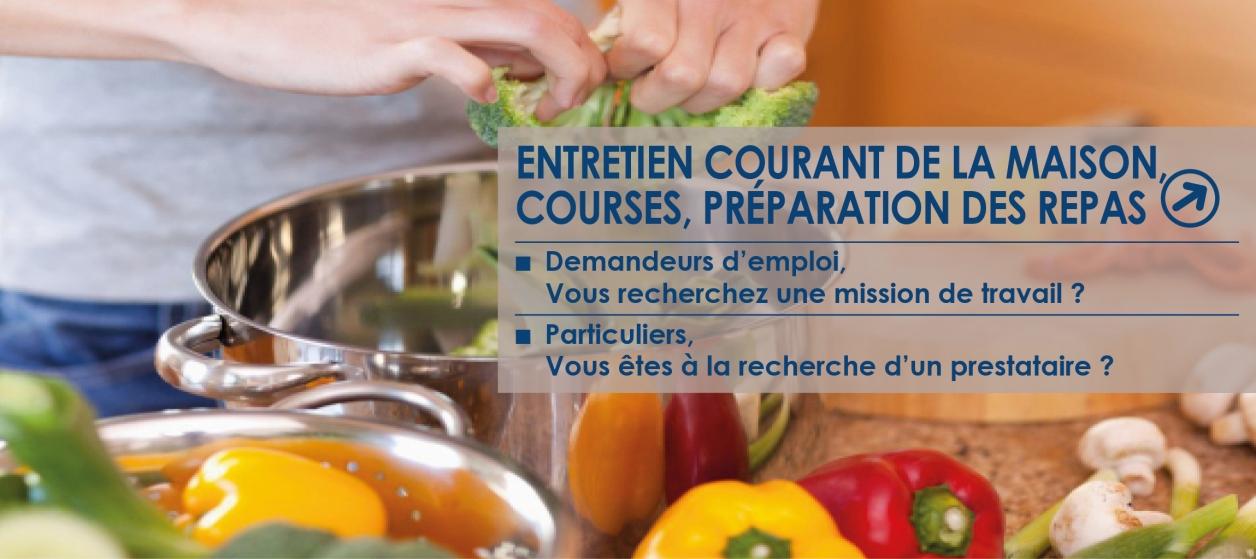 courses, préparation des repas ACCES27